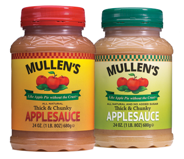 MULLEN'S APPLE SAUCE NOW AVAILABLE FOR PURCHASE
