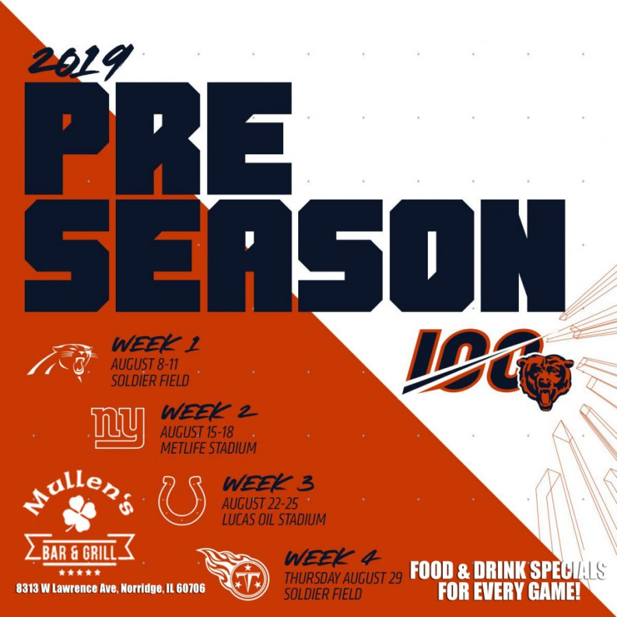 CHICAGO BEARS PRE-SEASON AT MULLEN'S BAR & GRILL NORRIDGE