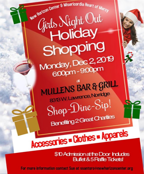 MONDAY, DECEMBER 2ND – GIRLS NIGHT OUT HOLIDAY SHOPPING