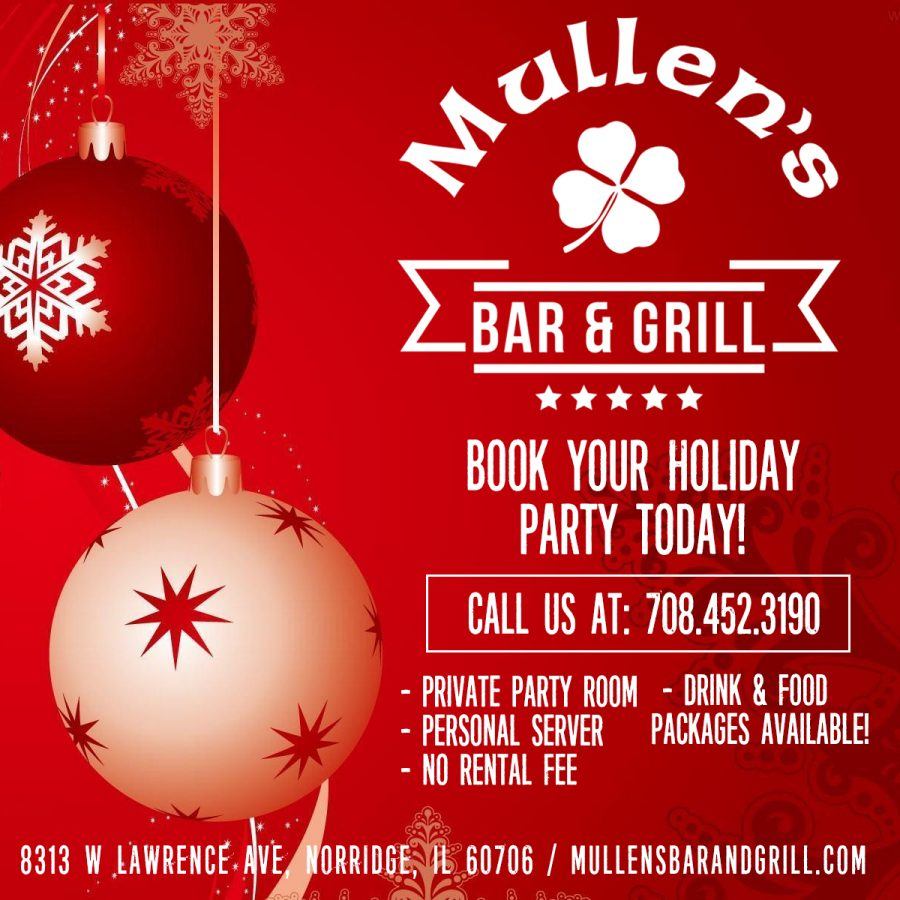 BOOK YOUR HOLIDAY PARTY AT MULLEN'S NORRIDGE