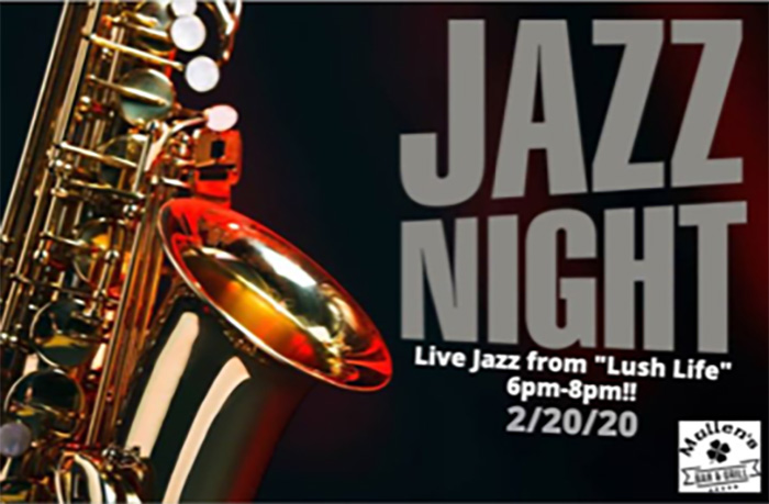 "THURSDAY, FEBRUARY 20TH – LIVE JAZZ FROM ""LUSH LIFE"""
